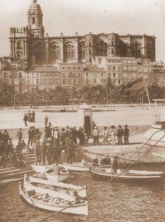 Cortina del muelle 1910. Málaga, Spain.