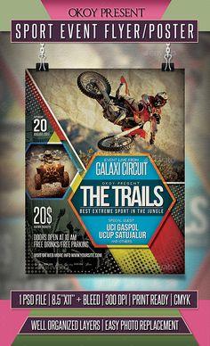 Sport Event Flyer / Poster Template PSD