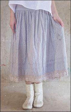 Magnolia Pearl, European Cotton Gala Skirt in Stellar