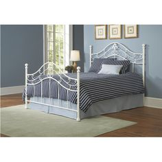 Ivory Metal Bed | Brian's Furniture