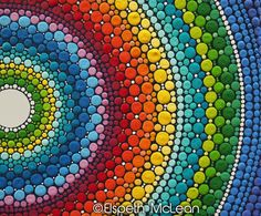 Just a snippet of a rainbow mandala by Elspeth McLean #rainbow #mandala #dots #elspethmclean #happy #colorful
