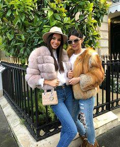 Luxurious 100% Genuine Thick Fox Fur Jacket Autumn Fashion 2018, Fall Fashion Trends, Winter Fashion Outfits, Fur Fashion, Trendy Outfits, Fasion, Womens Fashion, Fox Fur Jacket, Fox Fur Coat