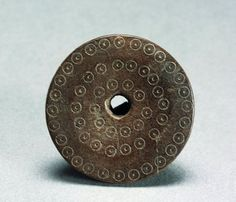 Prehistory, Italy, Emilia Romagna region, Bronze Age - Terramare culture. Spindle whorl decorated with evil eye.