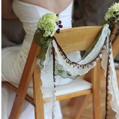 A Queen's Wedding Throne: Decorating Chairs Diy Wedding, Rustic Wedding, Wedding Bells, Wedding Ideas, Chair Bows, Chair Sashes, Elmer's Glue, Wedding Chairs, Chair Covers