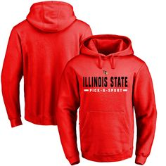 Illinois State Redbirds Custom Sport Pullover Hoodie - Red - $49.99