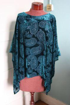 Silk devore velvet lagenlook over-sized by Sassyandsustainable