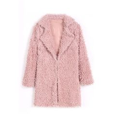Yoins Yoins Pink Fluffy Longline Coat (34 AUD) ❤ liked on Polyvore featuring outerwear, coats, coats & jackets, jackets, yoins, pink, long coat, pink coat, faux fur coats and fake fur coats