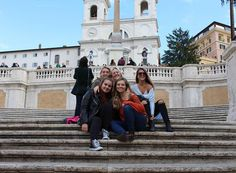 """#ispyapi #repost from #dubrovnik students on an excursion to #Rome @supitsemilie  """"Who knew I'd be lucky enough to find 4 best friends half way around the world"""""""