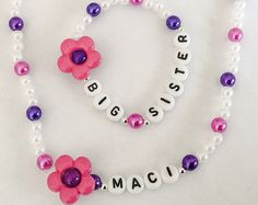 Big SISter Bracelet New Baby Sibling Gift I'm the by CommonScents1