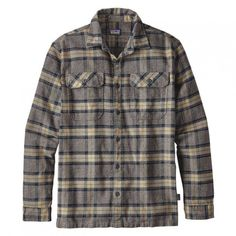 Patagonia Fjord Flannel Mens Shirt #men #clothing #button #plaid #sleeve #menshirts