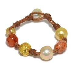 Gypsy bracelets by Wendy Mignot.  Mixed treasures with precious pearls. #wendyspearls