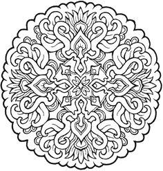 More Mystical Mandalas Coloring Pages-- Dover Publications