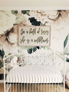 In a field of roses she is a wildflower // girl nursery // wood signs // nursery decor // laser cut // nursery sign // girls bedroom // Source by wallpaper