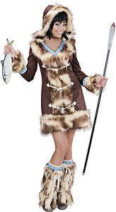 Sexy Inuit Eskimo Girl Kostüm NEU - Damen Karneval Fasching Verkleidung Kostüm