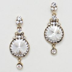 Sophisticated Classics, Brilliant Cut Crystals set in Antiqued Gold.
