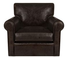 Clayborne Leather Swivel Chair - This item may be custom ordered in over 400 covers! Generous arm and back cushions and deep, Chair And Ottoman, Armchair, Boston Interiors, Leather Swivel Chair, Living Rooms, Cushions, Deep, House, Furniture
