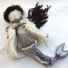 Snow Mermaid Doll Little Mermaid Rag Doll OOAK by thedollsunique #dolls #handmade #mermaid