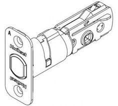 Kwikset 81305 RCAL Adjustable Deadbolt Latch with Round Corner Latch Faceplate