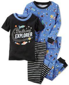 Carter's Bedtime Explorer Cotton Glow-In-The-Dark Pajama Set, Baby Boys months) - Baby Wolrd Toddler Boy Fashion, Little Boy Fashion, Toddler Boy Outfits, Toddler Boys, Kids Outfits, Lazy Outfits, Carters Baby Clothes, Baby Boy Pajamas, Carters Baby Boys