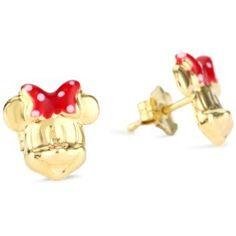 "Disney ""Minnie"" Girl's 14k Stud Earrings"