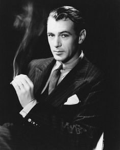 Gary Cooper, 1938, in a photo by Cecil Beaton