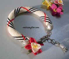 Christmas Sale Beaded bracelet  Beaded Crochet by NAZLIPAGES