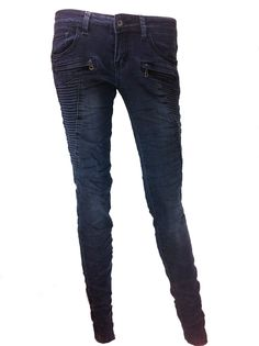 G-smack skinny met stiksels - antraciet/blauw http://www.beyou-dameskleding.nl/