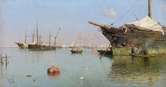 Guillermo Gómez Gil. Puerto, 1899. Colección Carmen Thyssen-Bornemisza en préstamo gratuito al Museo Carmen Thyssen Málaga