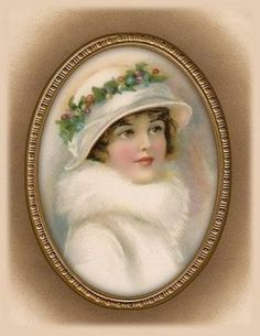 Victorian Lady In Oval Frame~counted cross stitch pattern Vintage Susies Vintage Abbildungen, Images Vintage, Vintage Christmas Images, Decoupage Vintage, Vintage Artwork, Vintage Labels, Vintage Girls, Christmas Art, Vintage Pictures