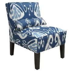 Add a splash of artistic style to your living room or bedroom with this eye-catching upholstered accent chair.      Product: Accent ch...