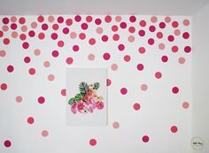 """Since I stencil the entry wall with the Otomi pattern , my daughter was begging me to do something in her bedroom. """"Because it's all whi..."""