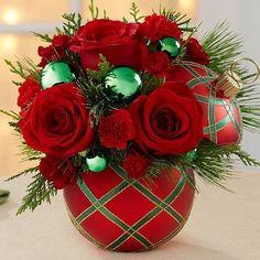Centros de Mesa para Navidad con Flores Naturales #arreglosfloralesparamesa
