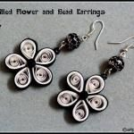 Quilling Flower and Bead Earrings - DIY