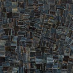 Artistic Tile Ziva Lake Blue Limestone Leaves Honed And