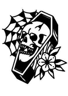 Cute Tattoos, Black Tattoos, Small Tattoos, Tatoos, Traditional Tattoo Leaves, Physics Tattoos, Halloween Tattoo Flash, Underground Tattoo, Coffin Tattoo
