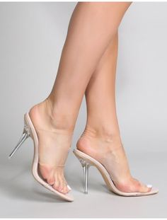 Boujee Clear Perspex Heel Mules in Faux Snake Sexy Legs And Heels, Sexy High Heels, Lace Up Heels, Sexy Feet, Heeled Mules, Heeled Boots, High Heels For Kids, Public Desire Shoes, Transparent Heels