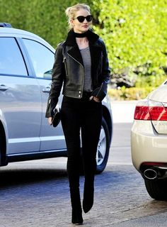 Rosie Huntington-Whiteley, Skinny Scarf, Street Style