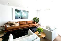coastal residence living room warm natural materials