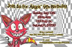 FNAF Foxy Birthday Invitation by PixieCraftsandParty on Etsy
