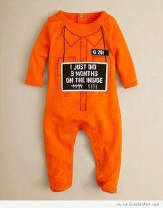 Pyjama Prisonnier Orange pour Bébé