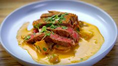 Olga & Valeria's Deconstructed Beef Stroganoff - My Kitchen Rules Top Recipes, Real Food Recipes, Cooking Recipes, Healthy Recipes, My Kitchen Rules, Kitchen Signs, Sticky Date Pudding, Come Dine With Me, Beef Stroganoff