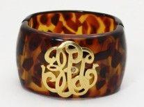 Monogrammed Tortoise Shell Bracelet - LOVE!!!!