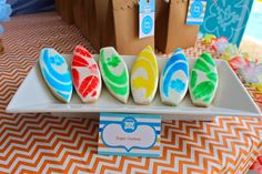 Cookies at a Surf Party #surf #partycookies