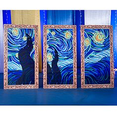 Our Starry Night Standees create a scene of a star filled night.  set of 3   $130