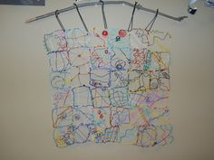 Wouldn't this be a wonderful ongoing project? A Wire quilt.