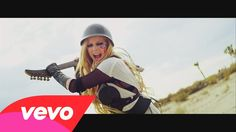 Avril Lavigne - Rock N Roll - hilarious video featuring the cool guitar used to kill the bearshark made by my friend who owns HDV Props - nice work!