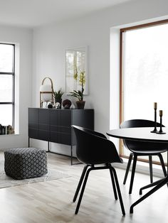 Living room from BLOOC black furniture