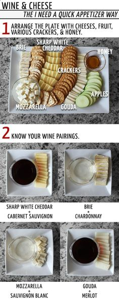 Wine Cheese Pairings- good to know..