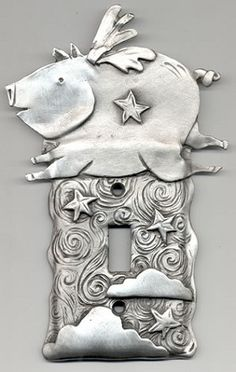 Love this! When pigs fly switchplate.
