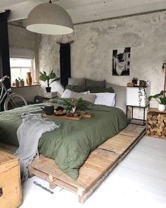 Buy products connected to rustic bedroom decor products and see what clients say about rustic room design products. Pallet Furniture Designs, Home Furniture, Furniture Ideas, Bedroom Furniture, Dresser Furniture, Green Furniture, Pallet Designs, Furniture Buyers, Modular Furniture